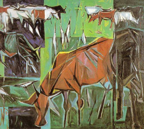 Grazing Herd by Chen Wen Hsi