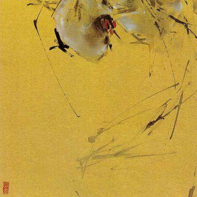 Hens Finger Painting Chen Wen Hsi