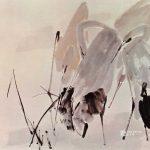 Storks at Beach by Chen Wen Hsi