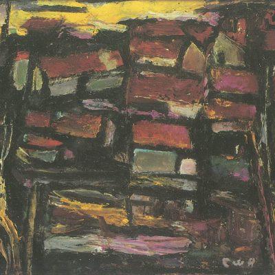 Landscape Oil on Canvas by Chen Wen Hsi