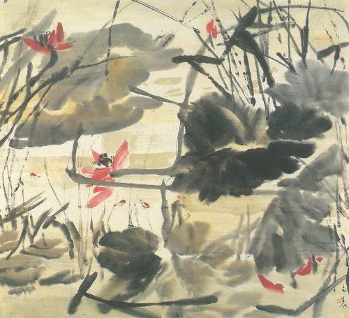 Rain Upon Lotus Pond Chen Wen Hsi